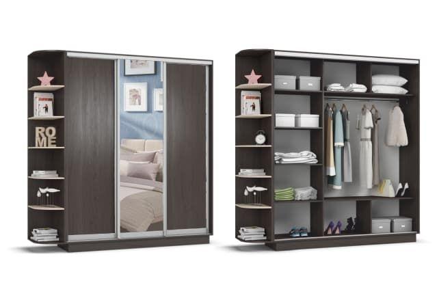 Шкаф купе  много мебели